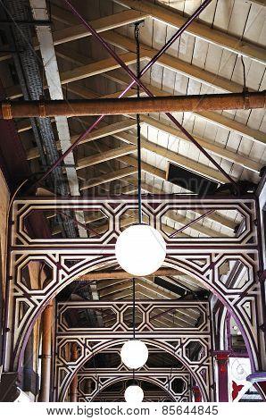 Victorian ceiling in Derby Market.