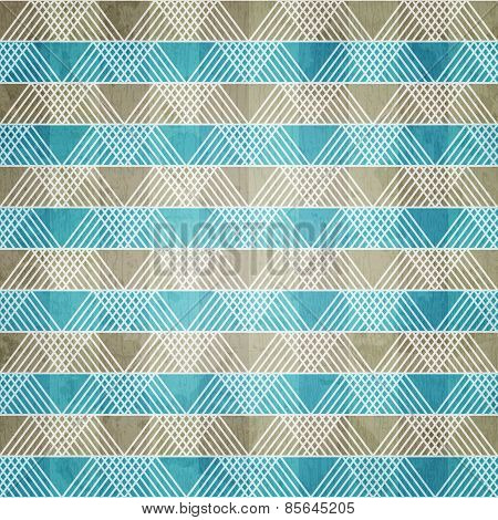 Blue Ornament Textile With Grunge Effect