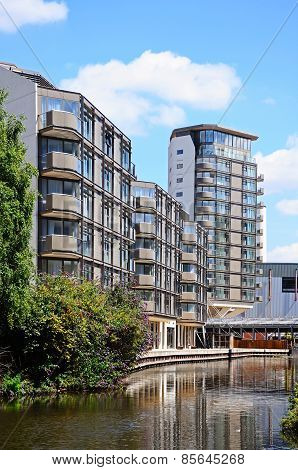 Canalside apartments, Nottingham.