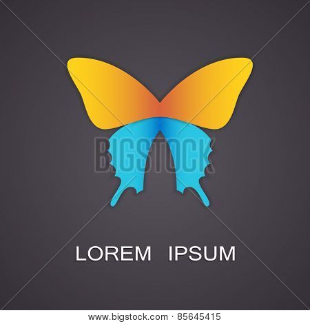 Vector illustration of a symbolic image of a butterfly