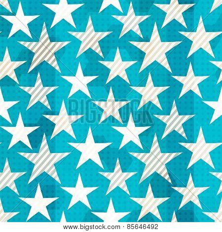 Blue Star Seamless