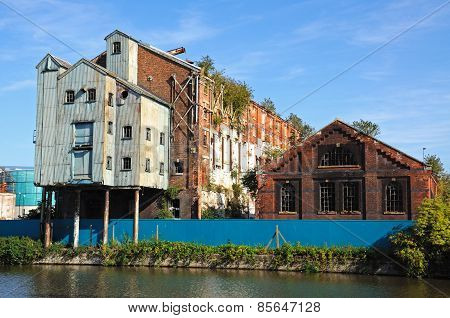 Dockside warehouses, Gloucester.