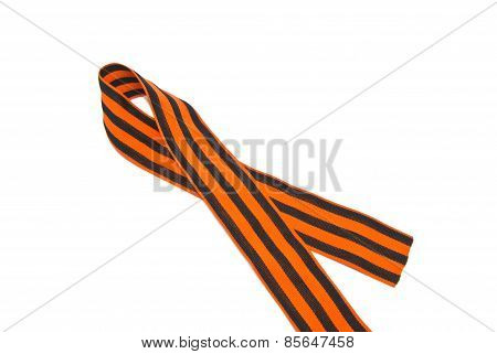 Single St. George Ribbon On White