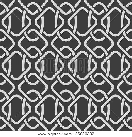 Abstract seamless oriental ornate vector pattern.
