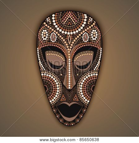 Vector Colorful African Mask