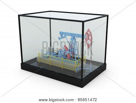 Model Of The Oil Pump In A Glass Box