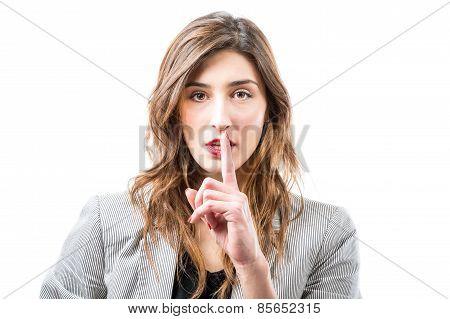 Shh. Finger On Lips.