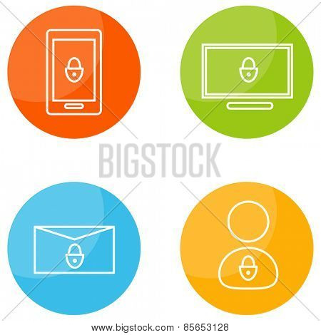 An image of mobile security icons.