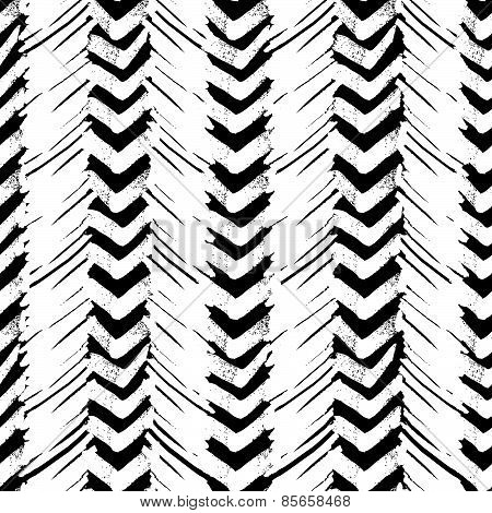 Seamless Brush Pen Hand Drawn Doodle Pattern. Vector Background Grunge Texture