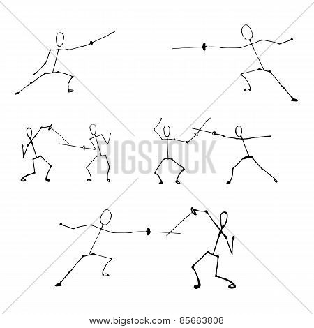Stick Human Figures Set