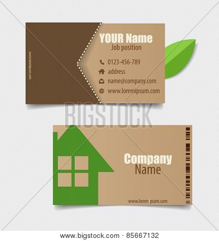 Modern business card template, vector design editable.