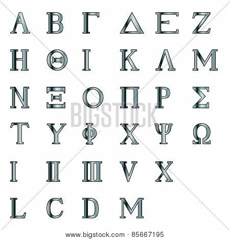 Greek Letters And Numbers