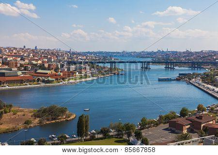 Bridge over the Golden Horn in Istanbul