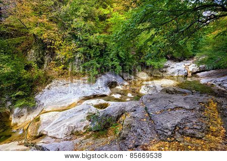 River stream in canyon.