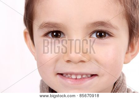 boy child portrait, closeup