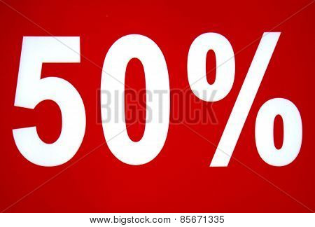 50 Fifty Percent Percentage Sign
