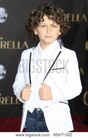 LOS ANGELES - MAR 1: August Maturo at the World Premiere of 'Cinderella' at the El Capitan Theater on March 1, 2015 in Hollywood, Los Angeles, California