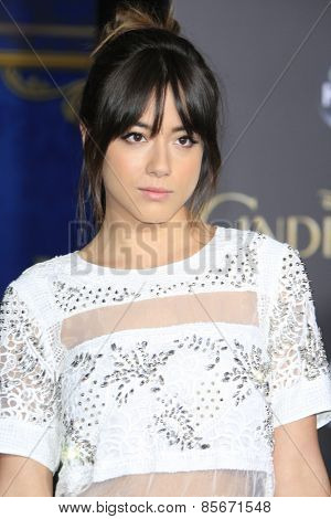 LOS ANGELES - MAR 1: Chloe Bennet at the World Premiere of 'Cinderella' at the El Capitan Theater on March 1, 2015 in Hollywood, Los Angeles, California