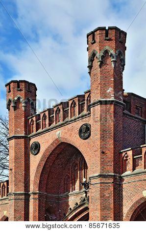 Rossgarten Gate -  Fort Of Konigsberg. Kaliningrad (former Koenigsberg), Russia
