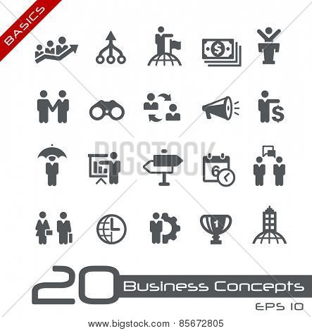 Business Concepts Icon Set // Basics