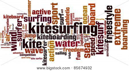 Kitesurfing Word Cloud