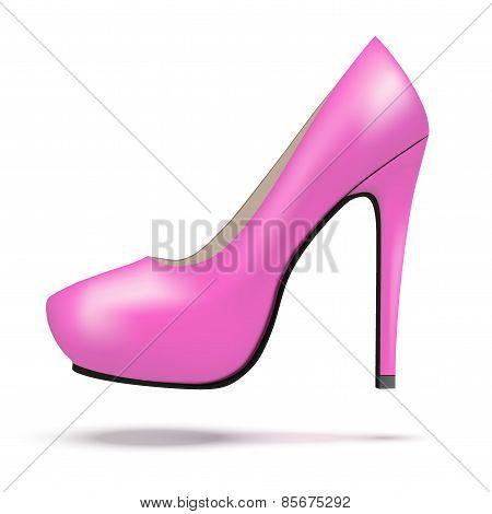 Pink bright modern high heels pump woman shoes