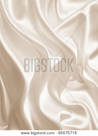Smooth Elegant Golden Silk As Wedding Background. In Sepia Toned. Retro Style