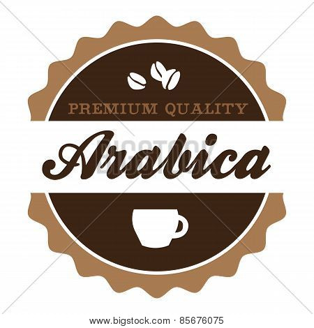 Vintage Arabica Coffee Label