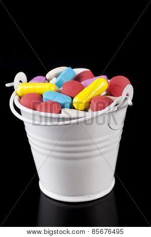Bucket With Pills