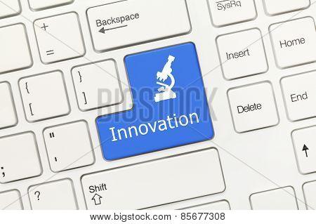 White Conceptual Keyboard - Innovation (blue Key)