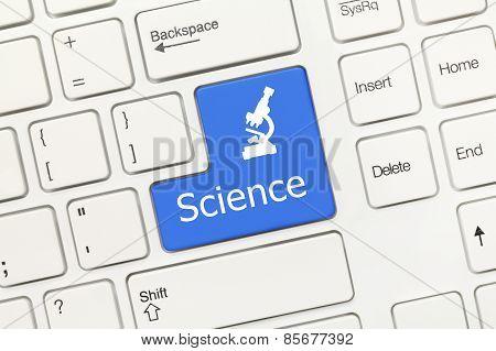 White Conceptual Keyboard - Science (blue Key)