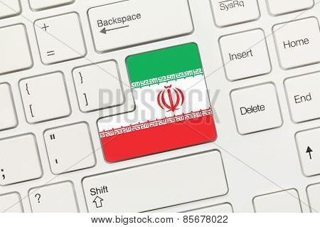 White Conceptual Keyboard - Iran (key With Flag)