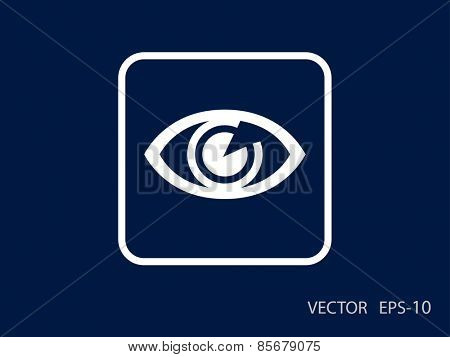 Flat icon of supervision