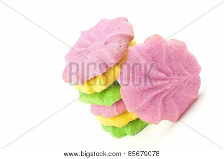 Colorful Pastel Butter Sugar Cookies