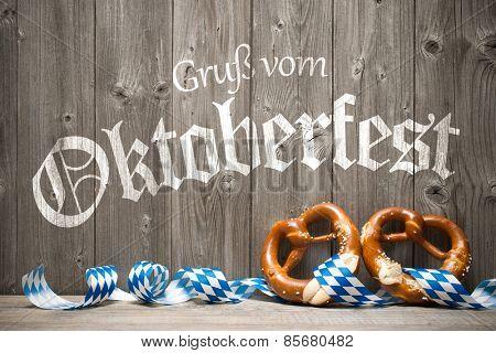 Oktoberfest german beer festival template background.Greetings from Oktoberfest