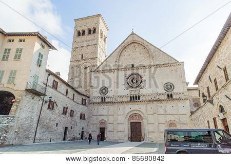 Assisi, Italy - January 23, 2010: San Rufino