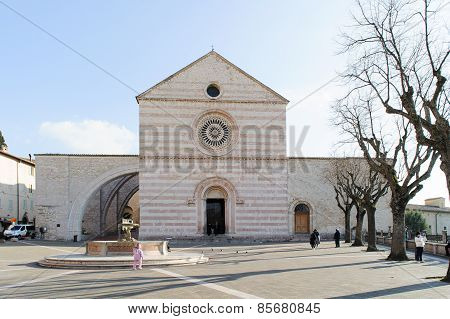 Assisi, Italy - January 23, 2010: Basilica Of Saint Clare