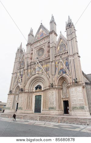 Orvieto, Italy - January 25, 2010: Orvieto Cathedral