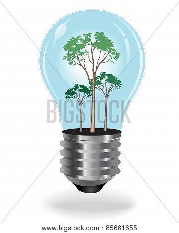 renewable, energy, concept, bulb