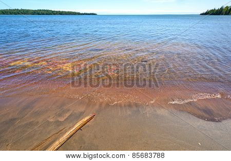 Colorful, Calm Bay On A Summer Day