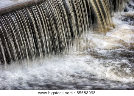 Waterflow Waterfall On A Small Creek