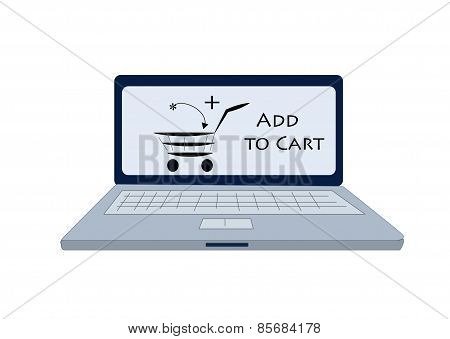 add to cart icon on computer