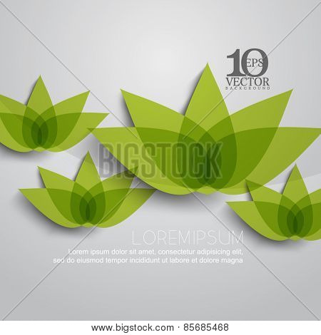 eps10 vector lotus flower plant nature silhouette transparent background design