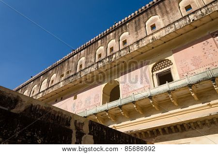 Detail Of Amber Fort In Jaipur, Rajasthan