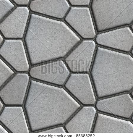 Gray Pavement - Different Size of Polygons.