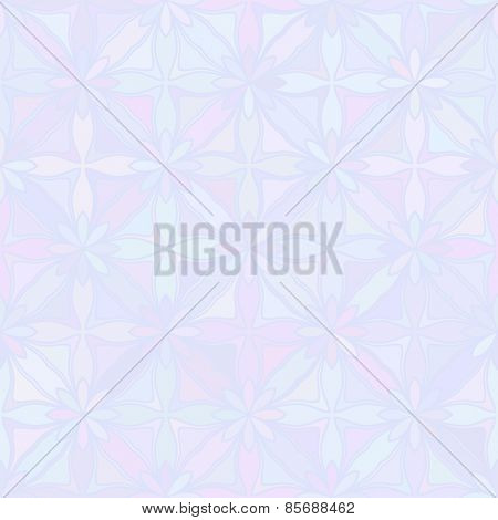Abstract vector background Geometric flower Seamless pattern Blue color