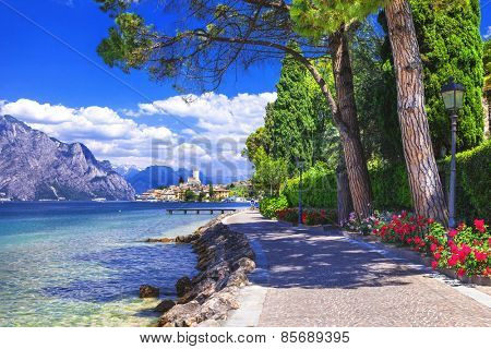scenery of northen Itlay - Malcesine,  Lago di garda