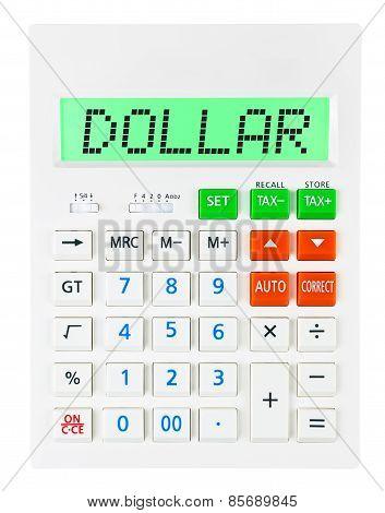 Calculator With Dollar