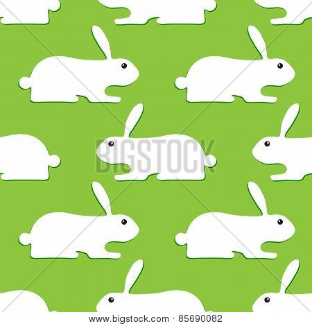 Background With Opposite Rabbits