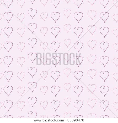 Pattern With Sketched Hearts